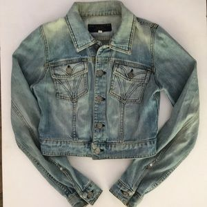 Juicy Couture Classic Cropped Denim Jacket